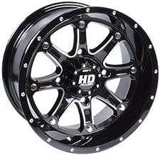 4/156 STI HD4 Alloy Wheel 14x7 4.0 + 3.0 Gloss Black for Polaris RANGER 800 HD 2014