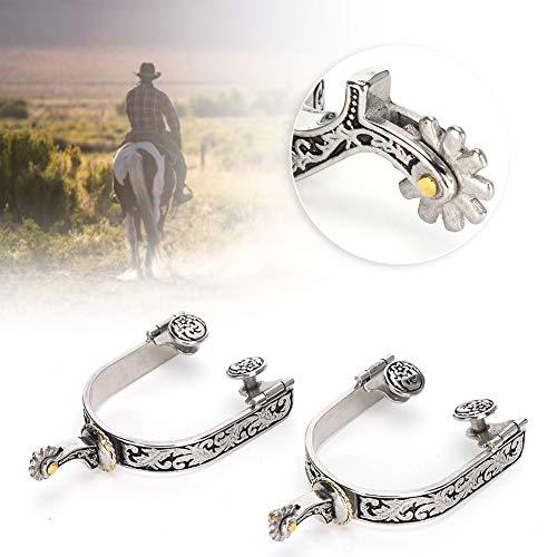 Pferd Spurs, Rostfrei Shires. Plastik Rolle West Cowboy mit Rostfrei Stahl 2 stücke zum Reiter Wettbewerb Unterhaltung
