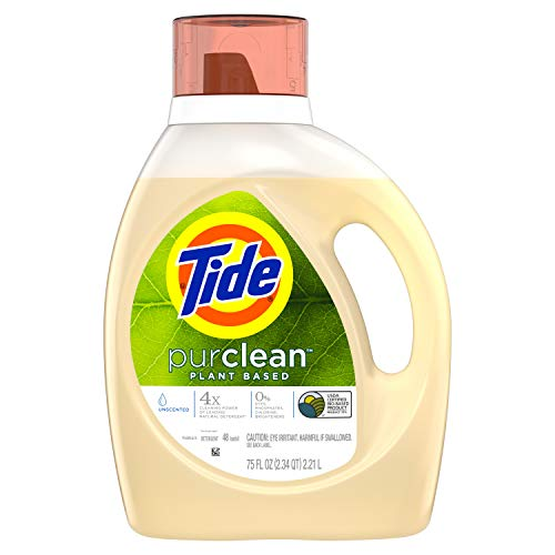 Tide Purclean Liquid Laundry Detergent for Regular and HE Washers, Unscented, 48 Loads (Packaging May Vary)