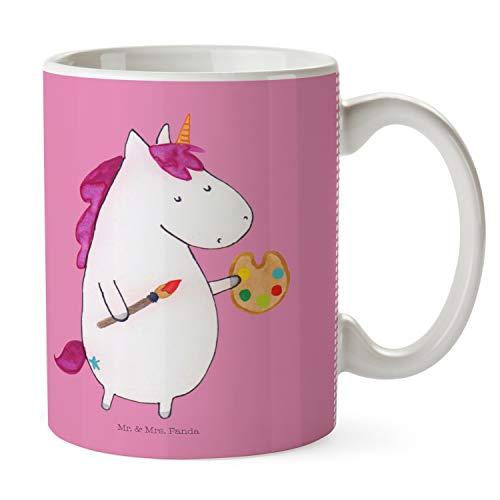 Mr. & Mrs. Panda koffiemok, koffiekopje, beker Eenhoorn Kunstenaar - Kleur Glitter roze