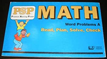 Paperback PSP Math Word Problems A * Read, Plan, Solve, Check Book