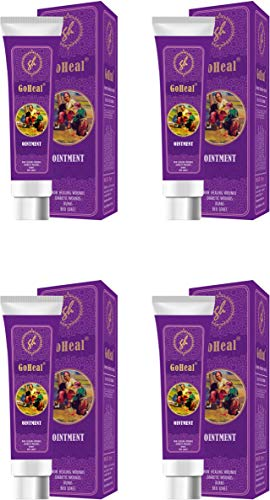 GoHeal Ointment For Diabetic Wounds, Burns, Non-Healing Wounds, Bedsores, Cuts And Bruises Set Of 4