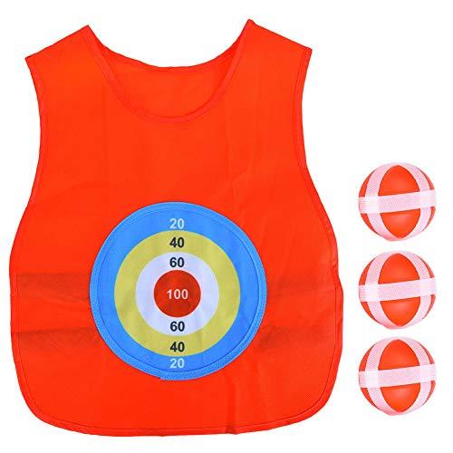 Ruiqas Kinder Klebrigen Ball Trikot im Freien Werfen Kleben Ziel Spiel Weste Kinder Spaß Sportspielzeug (Rot)