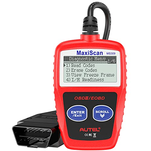 Autel MS309 OBD2 Scanner Check Engine Fault Code Reader, Read Codes Clear Codes,...