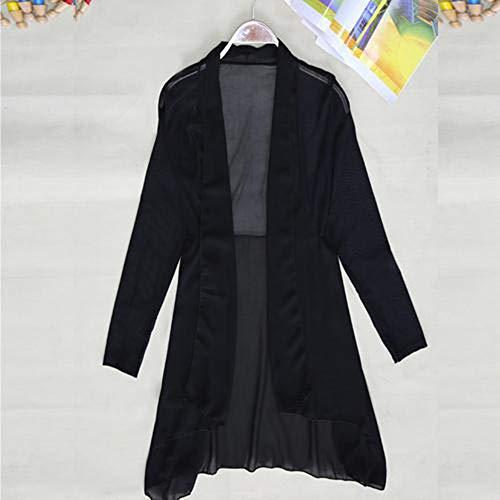 YHXMG dames tops zomer medium lange jas Womens lange mouwen witte zwarte jassen dames vest bovenkleding