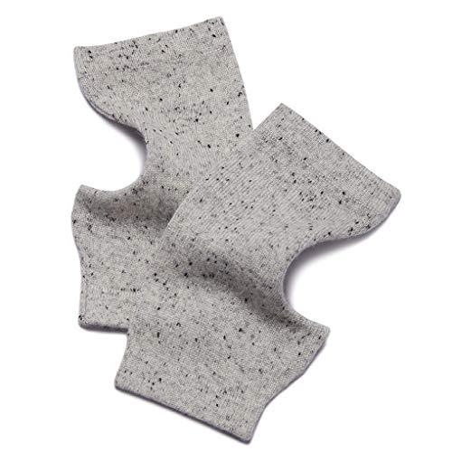 Prettystern gebreide 100% kasjmier vingerloze handschoenen polswarmers handschoenen zacht warm - zilvergrijze stip