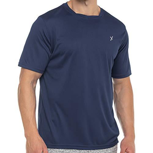 CFLEX Herren Sport Shirt Fitness T-Shirt piqué Sportswear Collection - Navy M