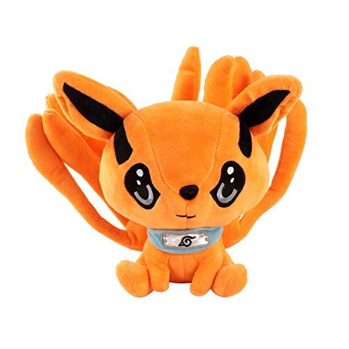 StarPlatinum Anime Naruto Kurama Nine-Tails Fox Plush Doll Stuffed 25cm Animal Toy Random Blind Box The Key Pendant (Kurama-1)