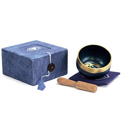 7 chakra sjungande skål presentförpackat set med träslagare och matta/dyna mindfulness meditation...