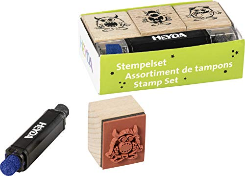 Heyda 204888696 Heyda 204888696 Stempel-Set (Monster) Setgröße: 8 x 4,5 x 2,5 cm, 3 Holz-Stempel