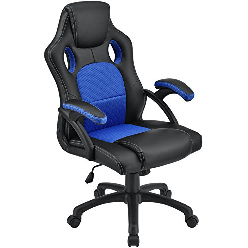 ArtLife Racing Schreibtischstuhl Montreal ergonomisch höhenverstellbar & gepolstert 120 kg belastbar Bürostuhl Drehstuhl PC Gaming Stuhl - blau