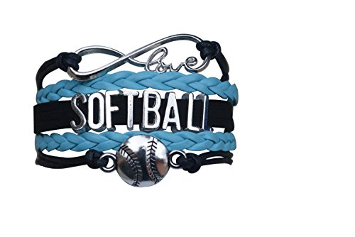 Softball Infinity Charm Bracelet