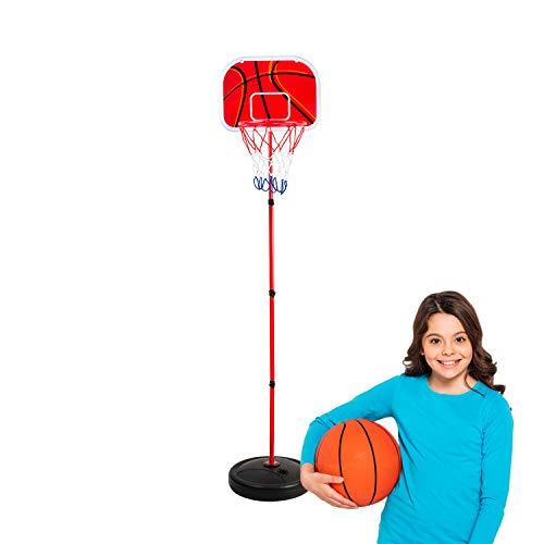 COSMOLINO Kinder Basketballkorb mit Ständer, Basketball-Set für Kinder, Basketballständer, Korbanlage für Kids, Basketball-Ständer, Basketball-Korb, Kinder