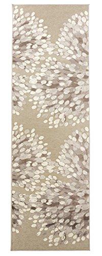 Vallila CM 000172-75 Sydänpuu 68 x 220 cm, Alfombra, corazón, Gris/Blanco