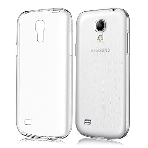 kwmobile Samsung Galaxy S4 Mini Cover - Custodia per Samsung Galaxy S4 Mini in silicone TPU - Back Case protezione posteriore trasparente