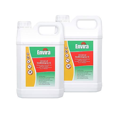 Envira Universal Insektenschutz - Hochwirksames Insekten-Spray Mit Langzeitschutz - Auf Wasserbasis - 2x5Ltr