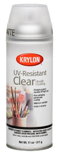Krylon K01309 Gallery Series Artist and Clear Coatings Aerosol, 11-Ounce, UV-Resistant Matte Spray Paint, 11 ounce, 11 Oz