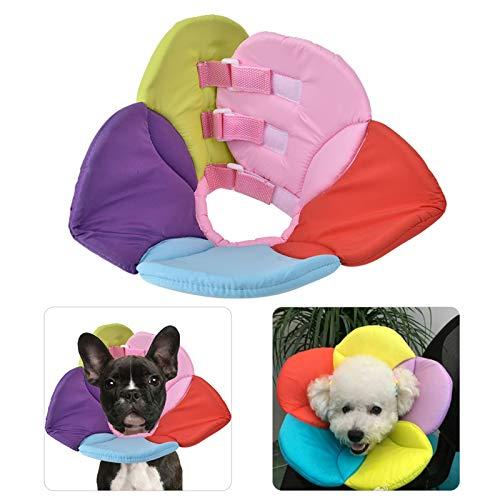 Collar a Prueba de mordeduras de Mascotas, Collar de recuperación para Mascotas, Lavable a Mano para Perros y Gatos de tamaño(Seven Colors, S)