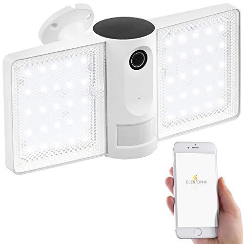 VisorTech Aussenleuchte mit Kamera: Full-HD-IP-Überwachungskamera, LED-Strahler, WLAN, App, für Echo Show (Überwachungskamera außen)