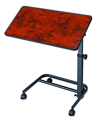Bijzettafel voor bed of bank, kleur walnootkleur, tafelblad 40 x 60 cm