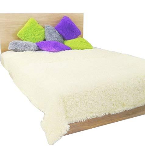 FK-Lampem residentiële plafond stof 200 cm x 220 cm knuffeldeken slaapdeken (crème)