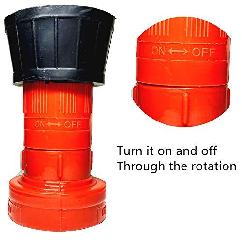 SAFBY Fire Hose Nozzle NPSH/NPT Thermoplastic Fire Equipment Spray Jet Fog (2 inch NPSH/NPT)