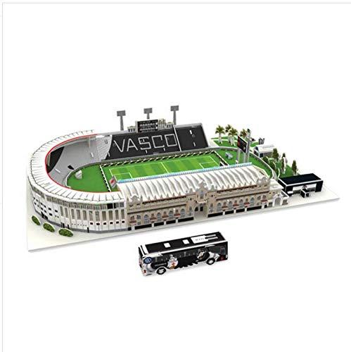 Brasile Vasco da Gama stadio di calcio stadio di calcio in cartone puzzle 3D, carta fatta a mano stampo stampo di carta puzzle giocattolo da collezione per i tifosi di calcio souvenir.