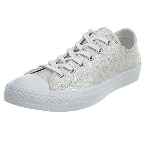 Converse Chuck Taylor AllStar Womens Style: 555812C-WHITE/SILVER/WHITE Size: 6