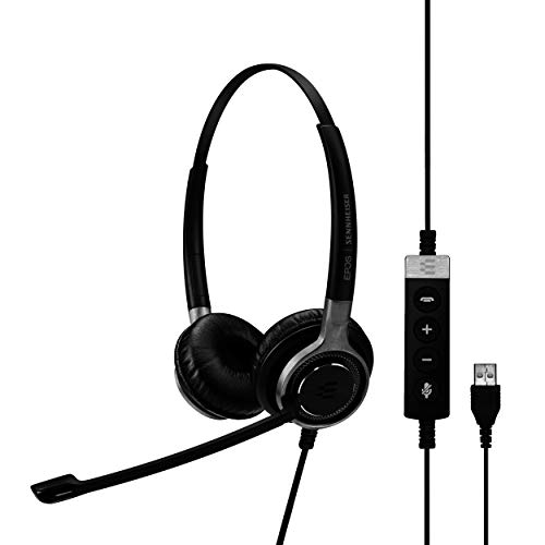 Sennheiser Consumer Audio SC 660 USB ML (504553) - Double-Sided Business Headset | For Skype for Business | with HD Sound, Ultra Noise-Cancelling Microphone, & USB Connector (Black)