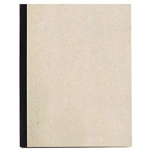 Matabooks, nachhaltige und vegane Notizblock A5 aus Graspapier, 144 blanko Seiten, Natur, Handmade, Made in Germany (Schwarz)