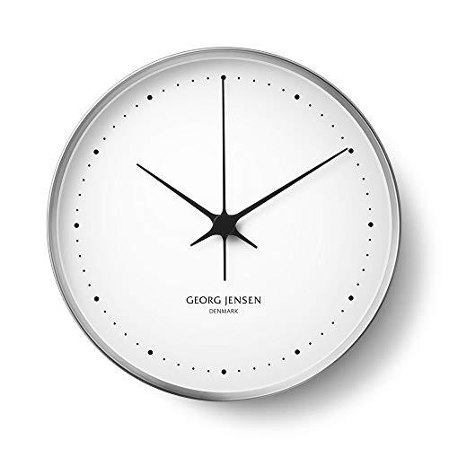 Georg Jensen Henning Koppel Uhr, Schwarz, 6x 22x 22cm, Plastik, Silber, 10 x 10 x 4.4 cm