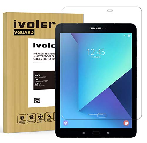 ivoler Protector de Pantalla para Samsung Galaxy Tab S3 9.7 Pulgadas / S2 9.7 Pulgadas, Cristal Vidrio Templado Premium [Dureza 9H] [Anti-Arañazos] [Sin Burbujas]