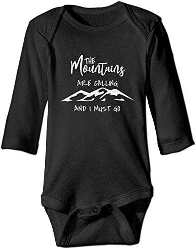 DJNGN The Mountains Are Calling and I Must Go Boutique Baby Body Onesie Unisex de Manga Larga