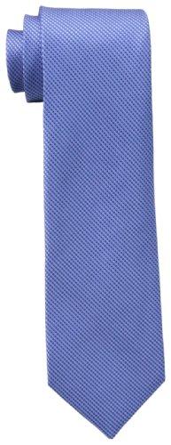 Calvin Klein Men's Steel Micro Solid B Tie, Slate Blue, One Size