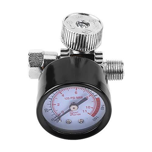 KIMISS auto manometer, tin legering 0-125 pneumatische regelaar 0-11 bar grote wijzerplaat persluchtmeter
