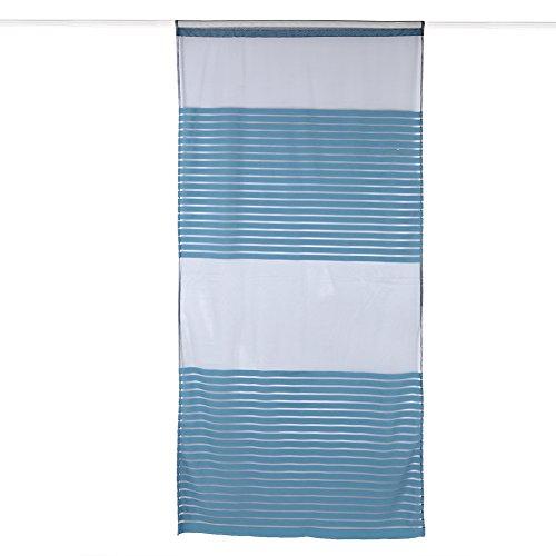 Nikou 100 * 213cm Polyester Ademende Elegante Deur Raam Gordijnen Grote Gaten Tulle Panelen Woonkamer Slaapkamer Balkon Dagverlichting