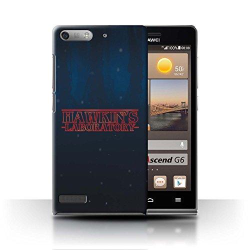Hülle Für Huawei Ascend G6 Seltsam Retro Hawkins Laboratorium Design Transparent Ultra Dünn Klar Hart Schutz Handyhülle Case