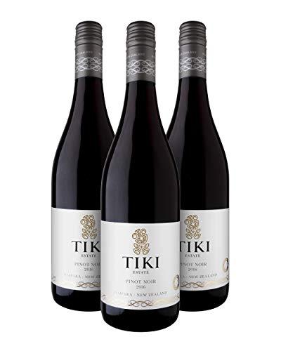 Tiki Pinot Noir Vino Tinto - Waipara, Nueva Zelanda - Pack 3 Bot. 75 cl