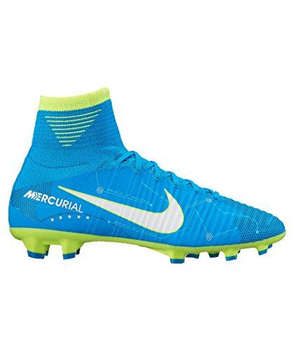 Nike Junior Mercurial Superfly V DF NJR FG Football Boots 921483 Soccer Cleats (UK 3.5 us 4Y EU 36, Blue Orbit White 400)