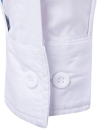 WHATLEES Mens Geek Psychedelic Splash-Ink Printed Slim Fit Long Sleeve Dress Shirts B3596 XX-Large