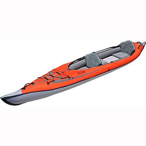 Advanced Elements AE1007-E AdvancedFrame Convertible Elite Inflatable Kayak , Red, 15ft