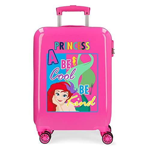 Disney Princesas Maleta de cabina Rosa 38x55x20 cms Rígida ABS Cierre combinación 34L 2,6Kgs 4 Ruedas Dobles Equipaje de Mano