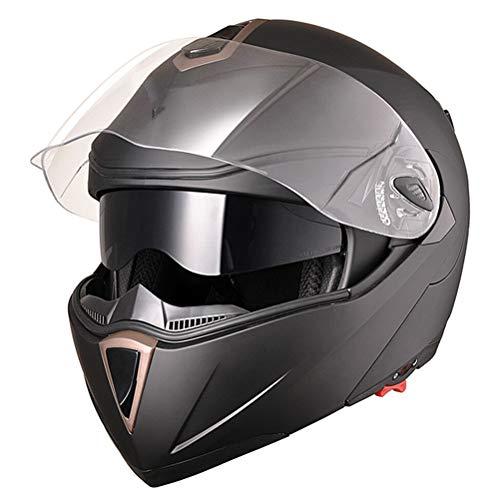 Jackallo Casco de Motocicleta, Casco de Motocicleta Cara