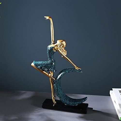 LOSAYM Statuen Dekoartikel Skulpturen Figuren Figuren Skulpturen Statuen Dekoartikel Skulptur Abstrakte Mondgöttin Figur Ballett Musik Muschel Violine Figur Kunst Skulptur Dekoration Harz Handwerk