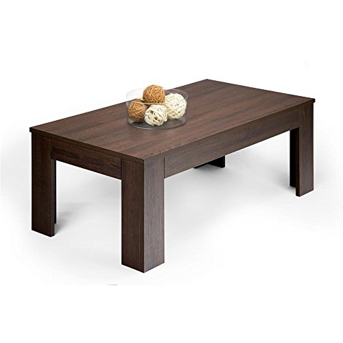 Mobili Fiver, Easy Couchtisch, Holz, Eiche Dunkelbraun, 100.0 x 55.0 x 40.0 cm