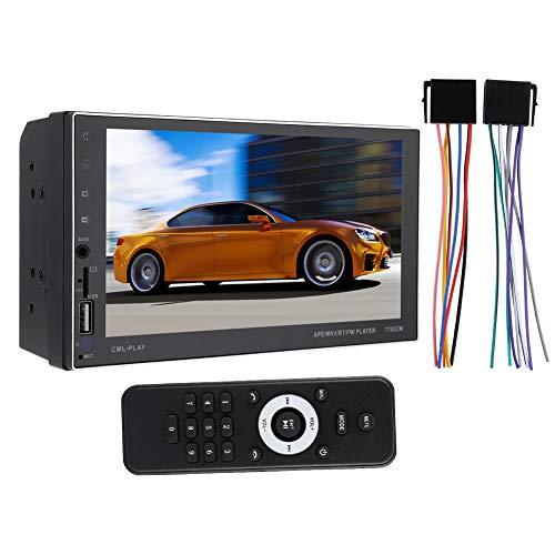 Weiyirot Teclado de 7 cores com retroiluminação MP5 Player, retrovisor retrovisor Power Off Memory Car MP5, com rádio FM, para carro