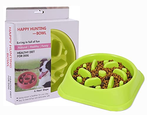 Ciotola per alimentazione lenta per cani, antiscivolo, materiali ecologici, rallenta l'ingestione di alimenti - Laberinto interattivo, alimentazione lenta per gatti e cani, 18,5 x 45 cm (verde)