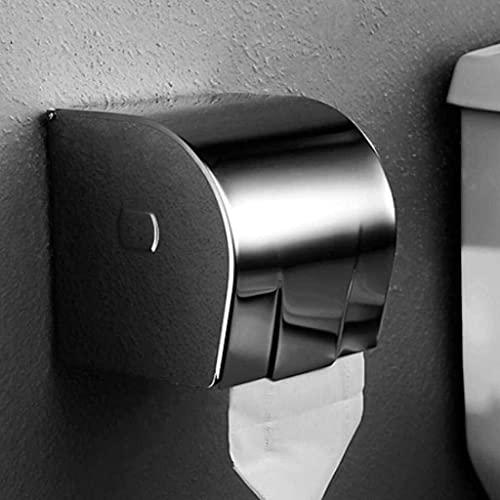 KMILE 304 Caja de Tejido de Acero Inoxidable Papel higiénico Toalla Soporte de Toalla Roll Bandeja a Prueba de Agua