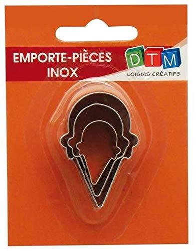 DTM 3 Coni Gelato Mini formine per Biscotti in Acciaio Inox