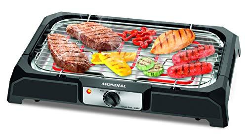 Churrasqueira Elétrica Mondial, Grand Steak & Grill, 127V, Preto, 2000W - CH-05